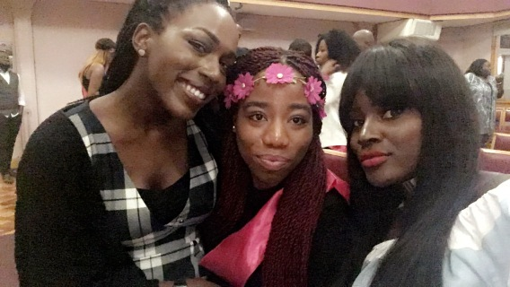 Hannah, Nneoma and Breeny Lee who is from YouTube!